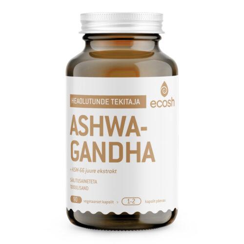 Ashwagandha juure ekstrakt Ecosh 90 kapslit