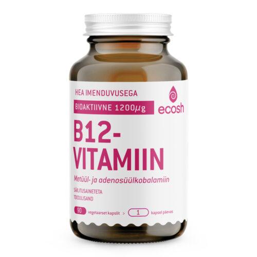 B12 vitamiin 1200 µg Ecosh 90 kapslit