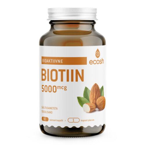 Biotiin 5000 µg Ecosh 90 kapslit