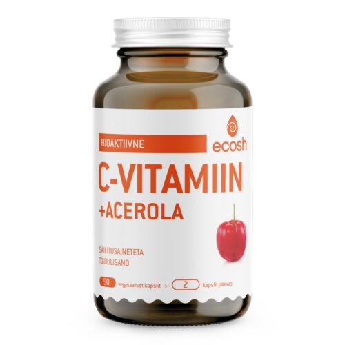 C vitamiin acerolaga Ecosh 90 kapslit