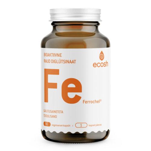 Raud Diglütsinaat C vitamiiniga Ecosh 90 kapslit