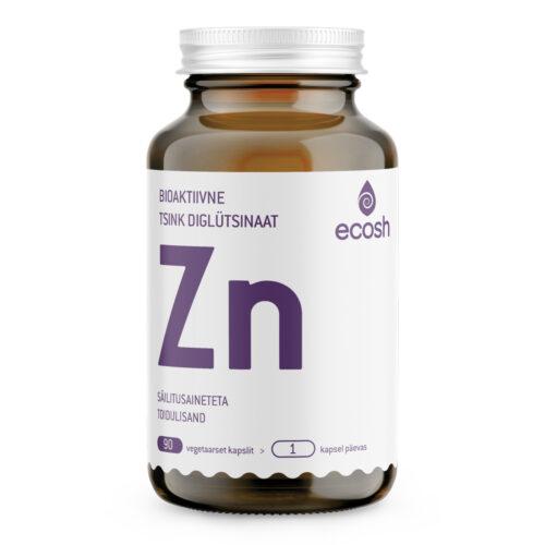 Tsink diglütsinaat 25 mg Ecosh 90 kapslit
