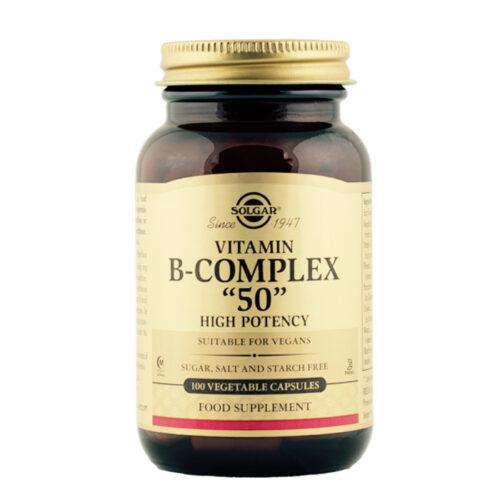 B vitamiini kompleks 50 Solgar 100 kapslit