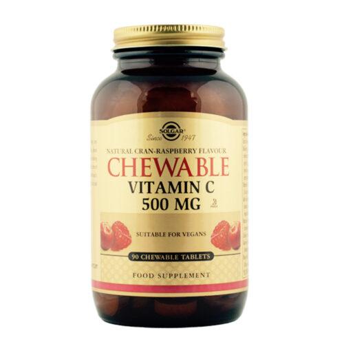 C vitamiini närimistabletid jõhvikas ja vaarikas Solgar 90 tabl