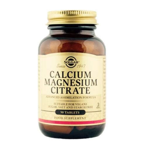 Kaltsium magneesiumtsitraat Solgar 50 tabl