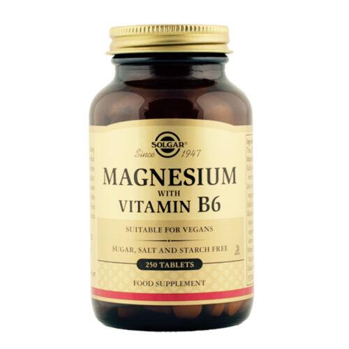 Magneesium koos vitamiin B6 250 tabl