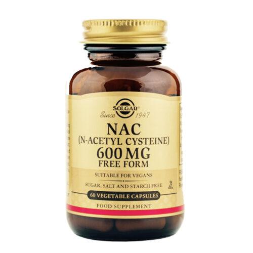 N-atsetüültsüsteiin NAC 600 mg Solgar 60 kapslit