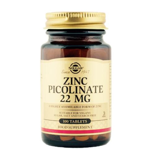 Tsink pikolinaat 22 mg Solgar 100 tabl