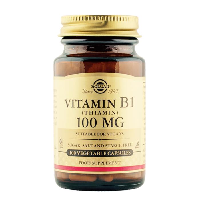 Vitamiin B1 Tiamiin 100 mg Solgar 100 kapslit