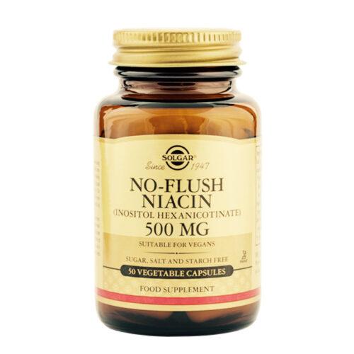 Vitamiin B3 niatsiin + vitamiin B8 inositool Solgar 50 kapslit