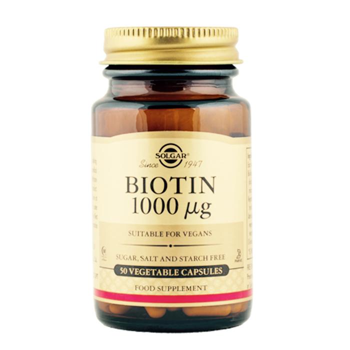 Vitamiin B7 biotiin 1000 mcg Solgar 50 vegetaarset kapslit