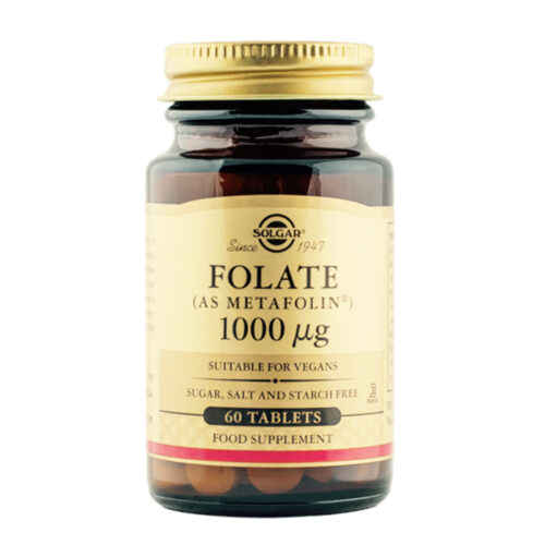 Vitamiin B9 folaat 1000 µg Solgar 60 tabl