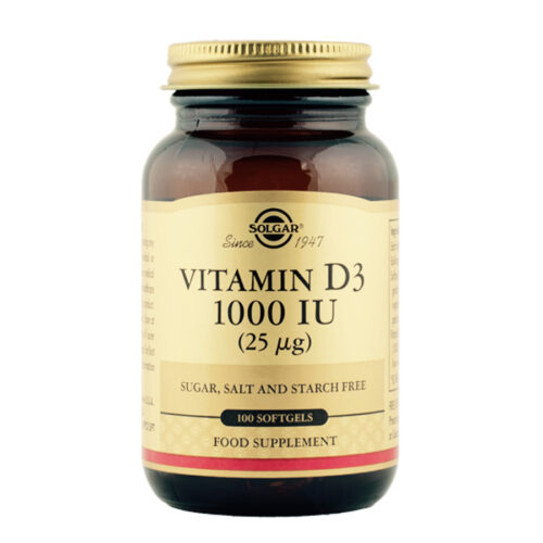 Vitamiin D3 1000 IU 100 kapslit