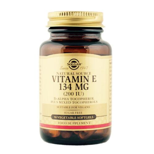 Vitamiin E 134 mg 200 IU Solgar 50 kapslit