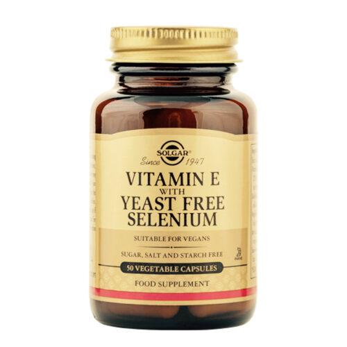 Vitamiin E koos pärmivaba seleeniga Solgar 50 kapslit