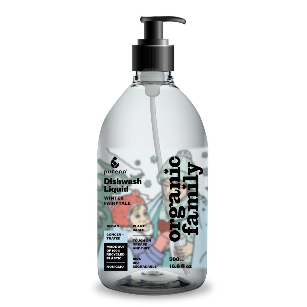 Lõhnatu nõudepesuvahend tundlikule nahale Organic Family 500 ml